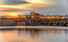 Picture sunset, Prague, April
