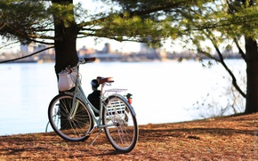Picture bike, the city, river, Canada, Ontario, Canada, bicycle, Ontario, cruiser, Quebec, QC, Ottawa, cruiser, Ottawa