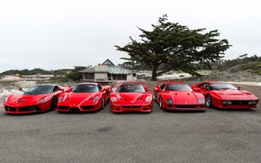 Wallpaper Ferrari, F40, Enzo, Italia, RED, F50, LaFerrari, 288 GTO