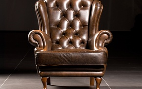 Picture wood, comfort, leather, armchair, Leather