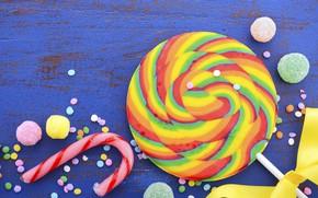 Picture sweets, lollipops, marmelad
