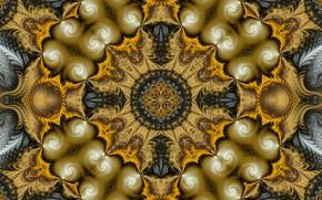 Wallpaper texture, fractal, pattern, symmetry