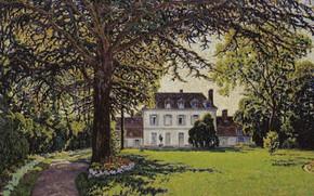 Picture landscape, picture, Gustave Cariot, Gustave Cairo, Castle Park in Périgny