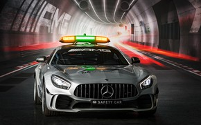 Picture Mercedes-Benz, front view, Formula 1, AMG, 2018, Safety Car, GT R
