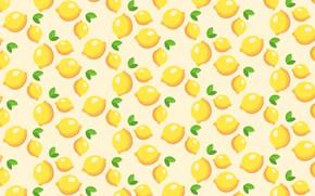 Wallpaper vector, citrus, lemon, food