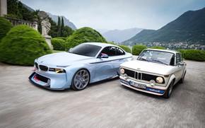 Picture Concept, Auto, Retro, BMW, Machine, Machine, Two, turbo, 2002, New, Old, BMW 2002, BMW 2002 …