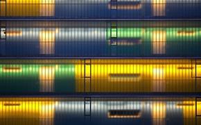Picture light, design, the city, the building, Windows, levels