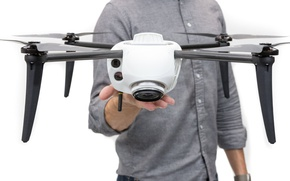 Picture machine, man, hand, human, drone, CES 2017, Kespry Drone 2S