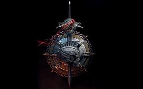 Picture Tape, Skull, Sword, Shield