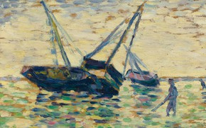 Picture picture, pointillism, Georges Seurat, Georges Seurat, Boats in the Sea