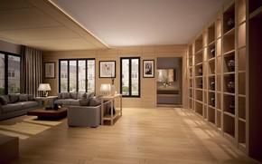 Wallpaper vases, furniture, room, living room, design, sofas, pictures