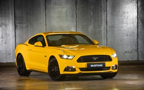 Picture Muscle, Ford Mustang, Fastback, Yellow, 2015
