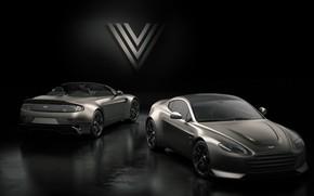 Picture Aston Martin, Roadster, Vantage, pair, rear view, V12, V600