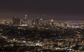 Picture night, the city, lights, panorama, California