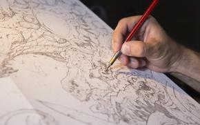 Picture art, hand, draw, Joe Madureira