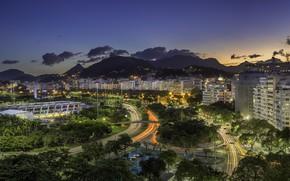 Picture the sky, night, lights, Brazil, Rio de Janeiro, Rio de Janeiro