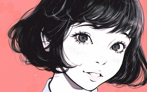 Picture look, girl, mood, hair, anime, art