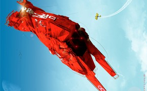Picture the sky, aircraft, Big Red