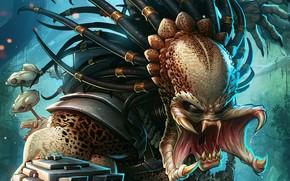 Picture fiction, alien, Predator, art, predator, Patrick Brown, PatrickBrown