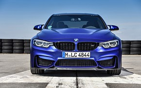 Picture BMW, sedan, front view, 2018, F80, BMW M3 CS
