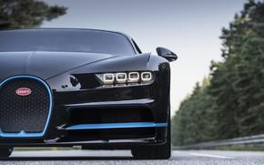 Picture Bugatti, Blue, Black, VAG, W16, LED, Chiron, 0/400