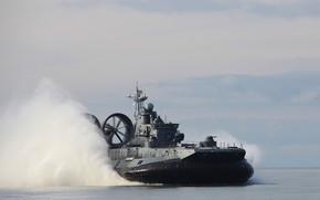 Picture ship, hovercraft, landing, Eugene Kocheshkov