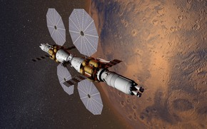 Picture space, Mars, experimental apparatus, The base camp of Mars