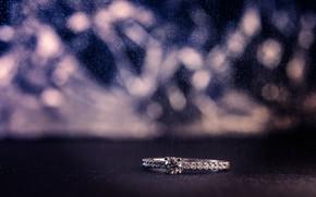 Picture stone, ring, decoration, diamond