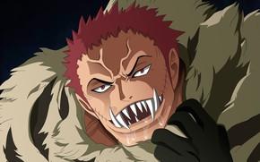 Picture One Piece, pirate, power, fight, fang, evil, akuma from mi, kaizoku, Charlotte Katakuri, Luffy Vs …