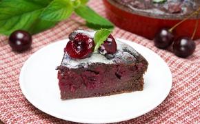 Picture cherry, pie, dessert