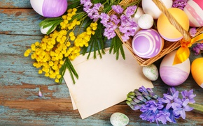 Wallpaper flowers, Easter, happy, flowers, spring, Easter, eggs, decoration, the painted eggs