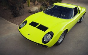 Picture Auto, Lamborghini, Retro, Green, Machine, Eyelashes, Lights, Car, Supercar, 1967, Miura, Supercar, The front, Lamborghini …