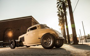Picture coupe, 1932, hotrod, old car, Ford Deuce