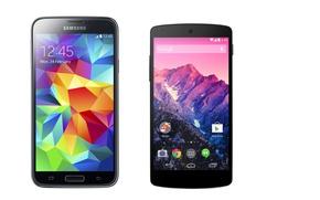 Picture Google, logo, Nexus, Samsung, smartphone, technology, cell phone, Galaxy S5, Samsung Galaxy S5, Samsung Galaxy, …