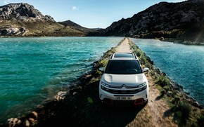 Picture lake, front view, 2018, crossover, Aircross, Citroen C5