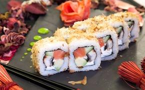 Wallpaper fish, figure, rolls, ginger