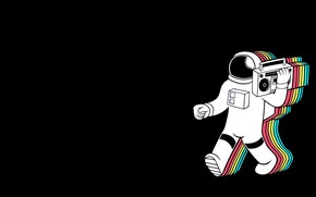 Wallpaper Music, Background, Astronaut, Tape, Synthpop, Retrowave, Synthwave, New Retro Wave, Retro Games, Spaceretro