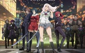 Picture girl, anime, katana, ken, blade, asian, manga, japanese, oriental, asiatic, uniform, seifuku, Tokyo ESP