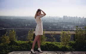 Picture look, face, model, hair, dress, panorama, Valeria