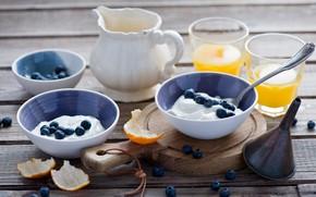 Picture berries, Breakfast, orange juice, yogurt, Anna Verdina