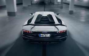 Wallpaper lights, Lamborghini, supercar, spoiler, rear view, 2018, Novitec Torado, Aventador S