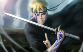 Wallpaper anime, Konoha, Boruto: Naruto The Next Generation, Naruto, hitaiate, sword, ken, Uzumaki, shinobi, ninja, manga, ...