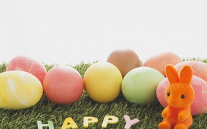 Picture eggs, Easter, weed, Holiday, Bunny, figure