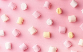 Picture background, pink, marshmallows