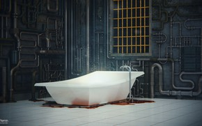 Picture pipe, blood, bath, the room, Magical Confusion