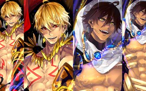 Picture collage, anime, guys, Fate Grand Order, The destiny of a great campaign