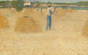 Picture field, picture, harvest, Henri-Jean Guillaume Martin, Henri Matrin, The Reapers Of The Wheat