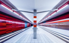 Picture metro, station, Germany, the platform, lamp, Hamburg