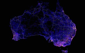 Picture line, lights, Australia, mainland