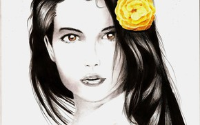 Picture flower, look, girl